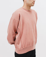 NATURAL DYED CREW FLEECE - BRICK