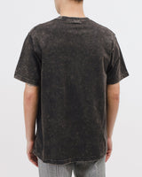 NATURAL DYED BLOCK SS JERSEY - GRAPHITE