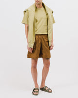 NATURAL DYED BLOCK SS JERSEY - MOSS