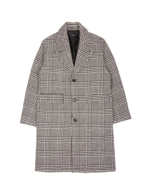 WOOL OVERCOAT - GLEN PLAID(3101)