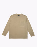 NATURAL DYED BLOCK LS JERSEY - LICHEN(3135)