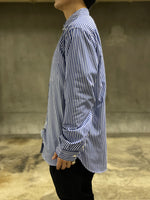 UTILITY ZIP SHIRT - BLUE STRIPE