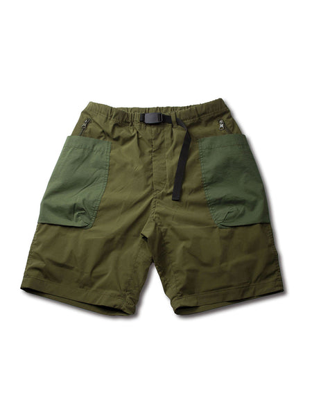 TASLAN STRETCH TAFFETA 4/10 CLIMBING WORK SHORTS - OLIVE