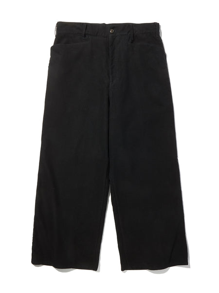 WIDE LEG WRAP PANTS - BLACK