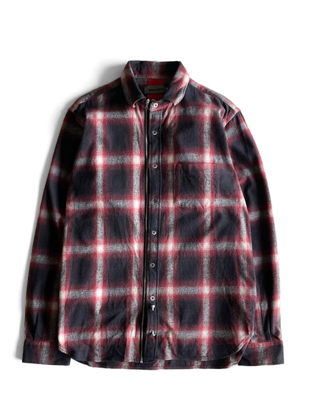 UTILITY ZIP SHIRT - RED HOMBRE CHECK
