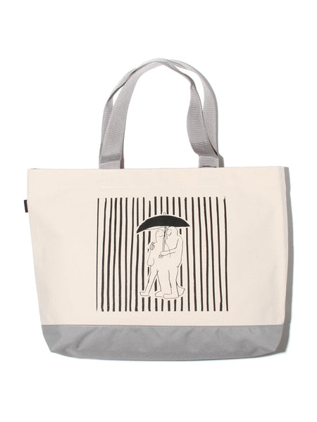 MG CANVAS MED TOTE - SILVER