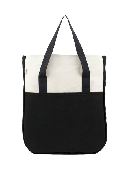 STANDARD UTILITY TALL TOTE - NATURAL/BLACK