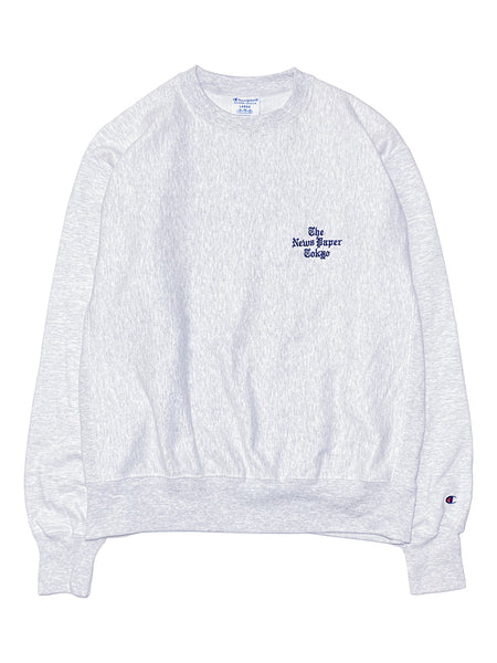 NEWS PAPER CREW FLEECE - GREY