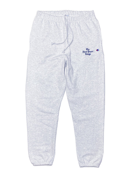 NEWS PAPER FLEECE PANTS - GREY