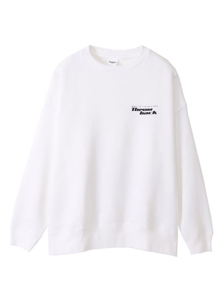 LOGO CREW NECK SWEAT - WHITE