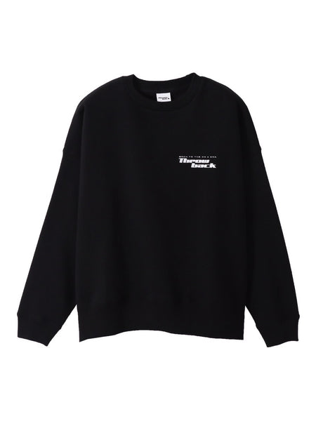 LOGO CREW NECK SWEAT - BLACK