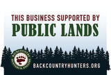 This Business is Supported by Public Lands Sticker