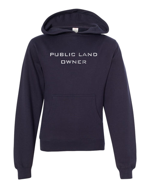 Youth Public Land Owner Sweatshirt - Navy/Logo