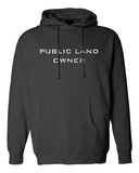 Public Land Owner Heavyweight Fleece Hoodie - Charcoal/Logo