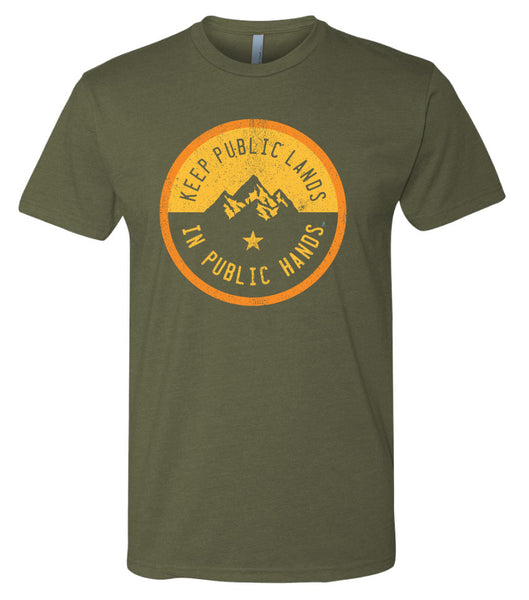 Men's Keep Public Lands in Public Hands Shirt-Olive