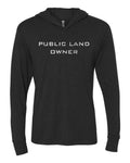 Public Land Owner Lightweight Tri-Blend Hoodie - Charcoal/Logo