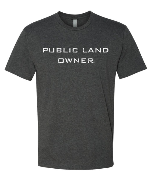 Men's Public Land Owner T-Shirt - Charcoal/Flag