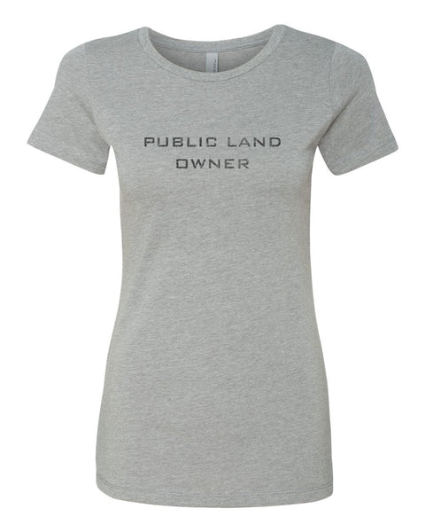 Women's Public Land Owner - Heather Grey/Logo