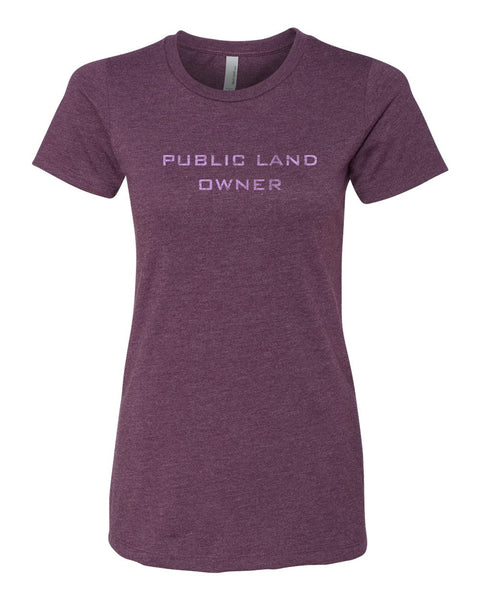 Women's Public Land Owner - Plum/Logo