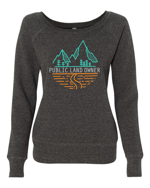 Women's PLO Mountains Sweatshirt - Dark Grey