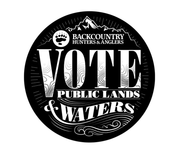 Vote Public Lands and Waters Sticker