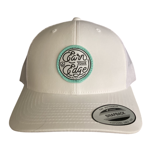 Earn Your Edge Patch Snapback - White