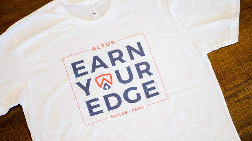 White Earn Your Edge T-Shirt