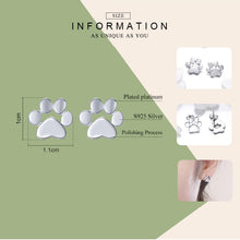 Load image into Gallery viewer, Women's cat footprints earrings