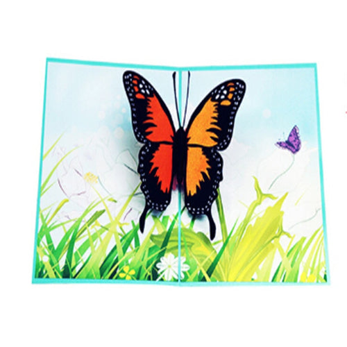 Butterfly Greeting Cards Handmade Birthday Wedding Invitation 3D Pop Up