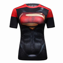 Load image into Gallery viewer, Women Superhero Tops compression t-Shirts