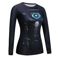Load image into Gallery viewer, Women Men Crossfit Long Sleeve Compression Shirt 3D Anime Superhero T Shirt