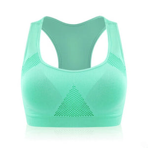 Professional Absorb Sweat Top Athletic Running Sports Bra , Gym Fitness For Women