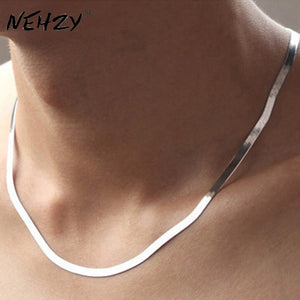 High quality silver necklace Men and Ms