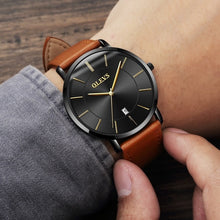 Load image into Gallery viewer, Olevs Quartz Genuine Leather Strap Men Wrist Watches