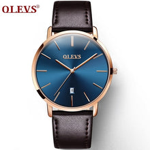 Load image into Gallery viewer, Men Luxury Wrist Watches Waterproof High Quality Genuine Leather Strap