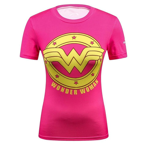 3D t shirts Women and Men Compression Superhero Tops