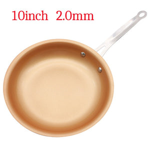 Non-stick Skillet Copper Red Pan Ceramic Skillet Frying Pan 10 Inches