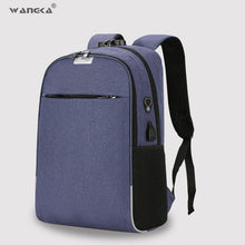 Load image into Gallery viewer, WANGKA USB Charging Laptop Backpack 15.6 inch Anti Theft Women and Men
