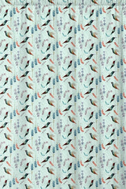 Pale blue animal pattern fabric.