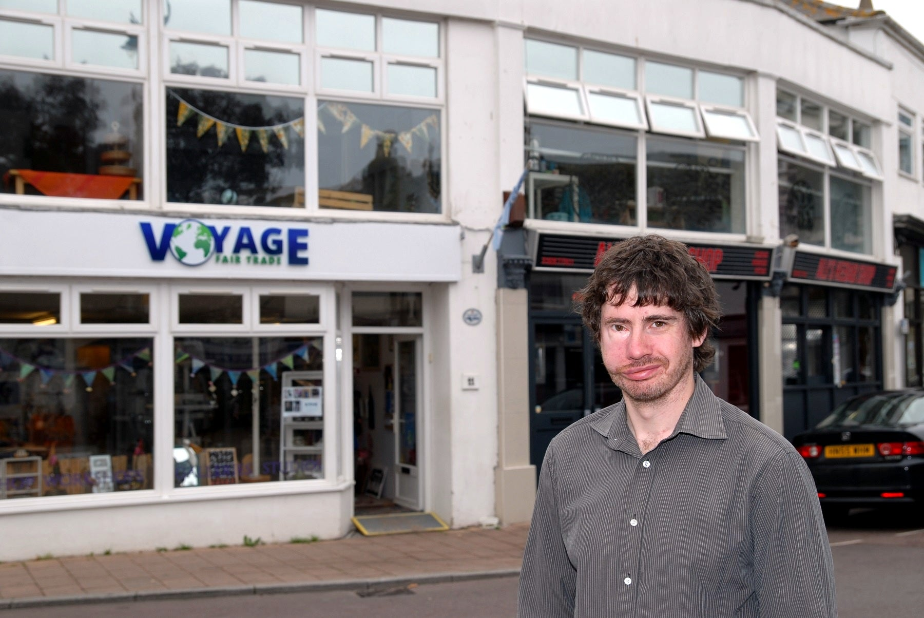 Sam Birtwistle Outside Voyage Fair Trade
