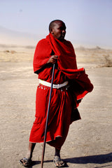 A tall man part of the Maasai Tribe