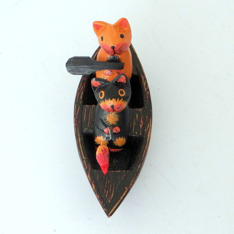 2 Cats on a Boat Ornament