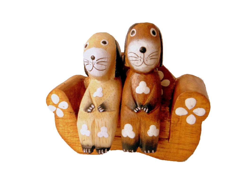 Model of 2 Dogs on a Sofa