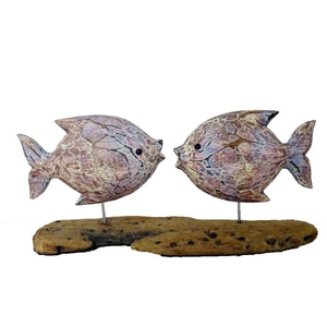 Load image into Gallery viewer, 2 Fish on Driftwood