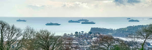 6 Cruise Ships off Teignmouth (Large wallpaper)