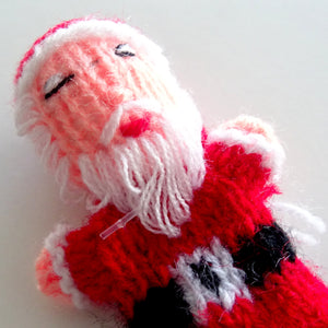 Load image into Gallery viewer, Handmade Santa Finger Puppet