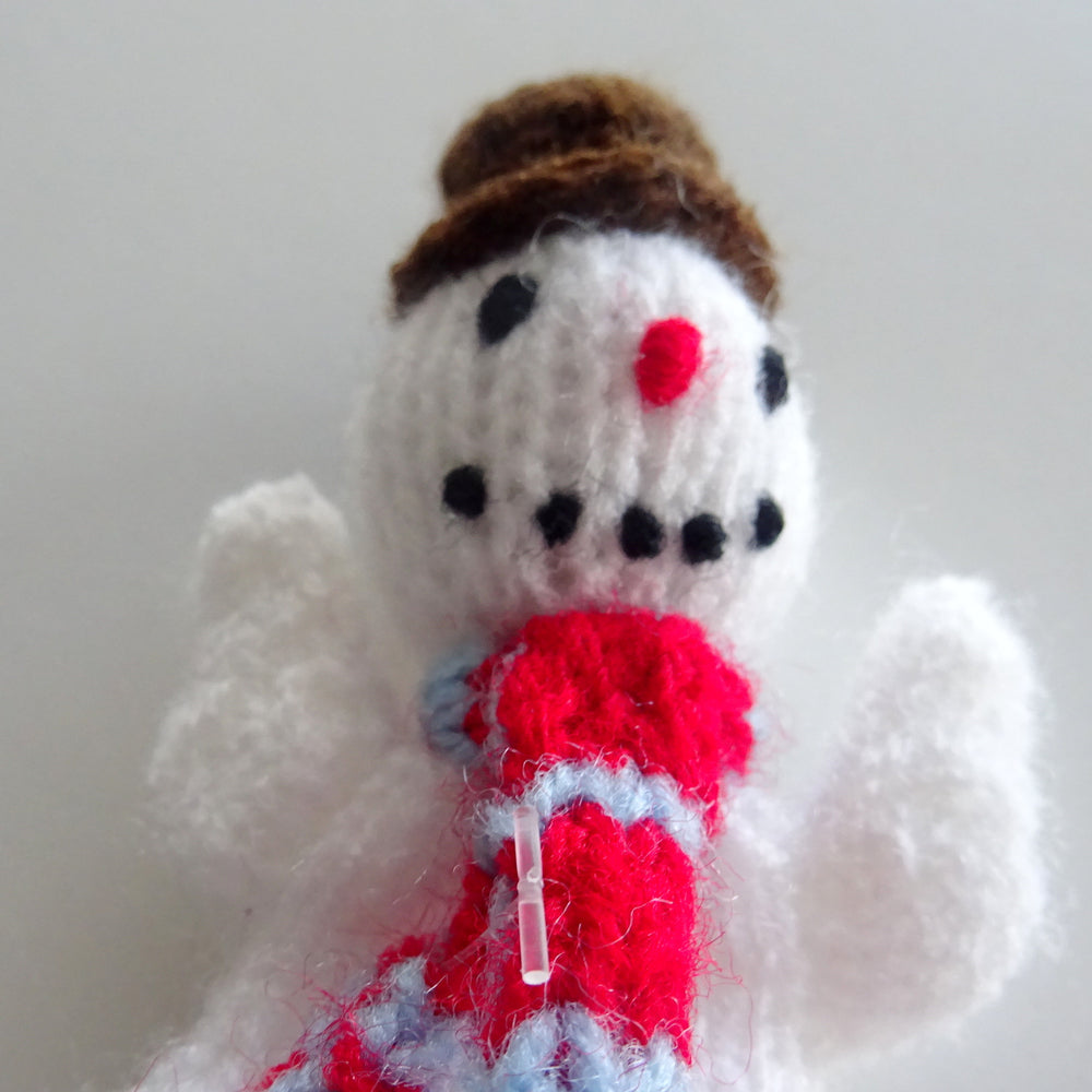 Load image into Gallery viewer, Handmade Snowman Finger Puppet