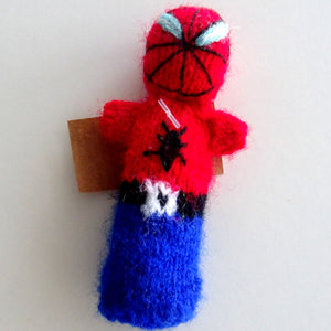 Handmade Spiderman Finger Puppet