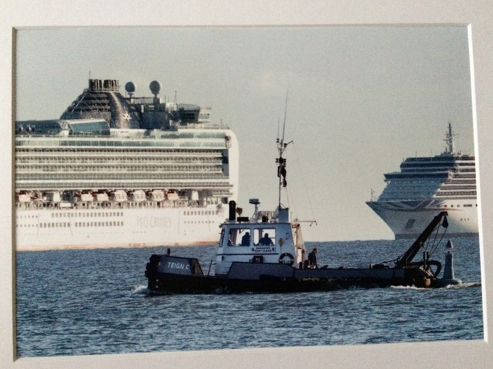 Teign C with 2 P & O Cruise Liners