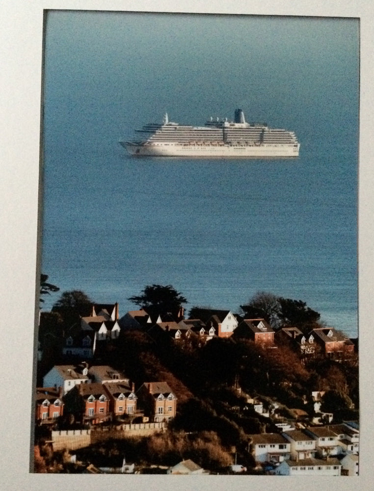 P & O Cruise Ship Arcadia Off East Teignmouth
